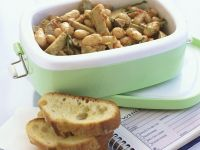 Artichoke Salad with Beans recipe