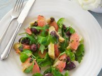 Artichoke Salad with Grapefruit and Olives recipe