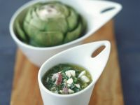 Artichoke with Herb and Egg Sauce recipe