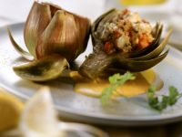 Artichokes Filled with Crab recipe