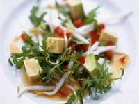 Arugula and Avocado Salad with Tomato Dressing recipe