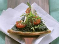 Arugula and Cherry Tomato Pizza with Parmesan recipe