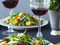 Arugula and Radicchio Salad with Brussels Sprouts recipe