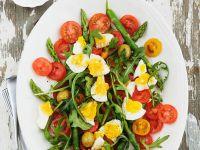 Egg, Tomato, and Vegetable Spear Platter recipe