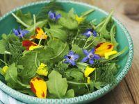 Arugula Salad with Edible Flowers recipe