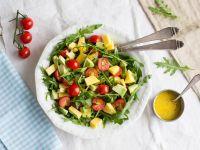 Arugula Salad with Mango, Avocado and Cherry Tomatoes recipe