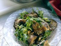 Arugula Salad with Oyster Mushrooms recipe
