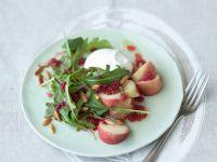 Arugula Salad with Peaches and Mozzarella recipe