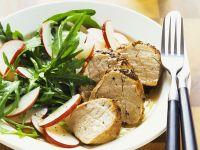 Arugula Salad with Pork Tenderloin recipe