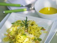 Arugula Sauce with Ribbon Pasta recipe