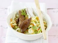 Asian Cabbage Salad with Steak recipe