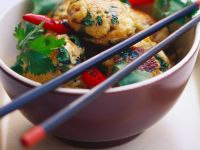 Asian Fish Balls with Egg Noodles