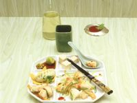 Asian Fondue with Fish and Chicken