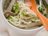 Asian Noodle Soup with Beef recipe
