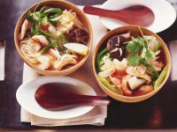 Asian Noodle Soup with King Prawns recipe