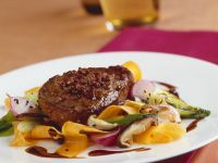 Asian Pepper Steak with Vegetables recipe