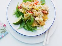 Asian Rice Salad with Pineapple and Spinach recipe
