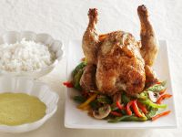 Asian-Seasoned Roast Chicken with Vegetables recipe