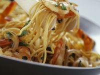 Asian Shrimp and Coriander Noodles recipe