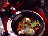 Asian Soup with Fish Dumplings