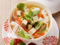 Asian Soup with Rice Noodles recipe