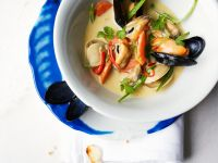 Asian-Style Clam and Mussel Chowder recipe
