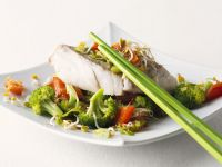 Asian-Style Pollock with Vegetables recipe