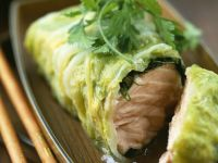Asian-style Wrapped Fish recipe