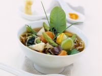Asian Vegetable Soup with Noodles recipe