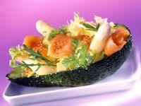 Asparagus and Avocado Salad with Gravlax recipe