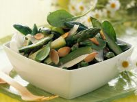 Asparagus and Bean Salad with Almonds recipe