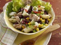 Asparagus and Tuna Salad with Corn and Beans recipe