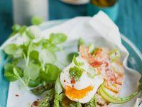 Asparagus, Bacon and Egg Bruschetta recipe
