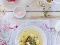 Asparagus Bisque with Soft Cheese recipe
