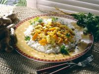 Asparagus-Carrot Curry with Basmati Rice recipe