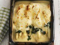 Pancake Casserole with Asparagus recipe