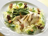 Asparagus, Lettuce and Chicken Salad recipe