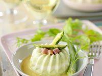 Asparagus-Parmesan Flan with White Wine Sauce recipe