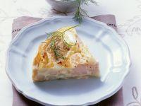 Asparagus Quiche with Salmon recipe