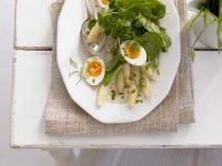 Asparagus Salad with Egg and Spinach recipe
