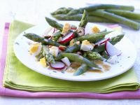 Asparagus Salad with Eggs and Radishes recipe