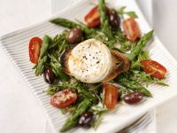Asparagus Salad with Goat Cheese, Cherry Tomatoes and Balsamic Vinaigrette recipe