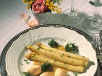 Asparagus Salad with Salmon Mousse recipe