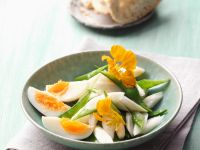 Asparagus Salad with Snow Peas and Eggs recipe