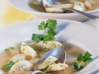 Asparagus Soup with Semolina Dumplings