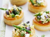 Asparagus Spear Pastry Cups recipe