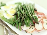 Asparagus Spear Platter with Egg recipe