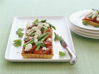 Asparagus Tarts with Tomato and Goat Cheese recipe