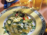Asparagus Terrine with Sherry and Egg Sauce recipe