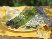 Asparagus with Elderflower Butter recipe